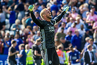 Kasper Schmeichel of Leicester City during the Premier League match between Leicester City and Tottenham Hotspur at the King Power Stadium, Leicester, England on 21 September 2019. Photo by James  Gill / PRiME Media Images.