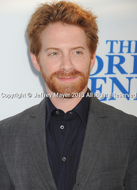 HOLLYWOOD, CA- AUGUST 21: Actor Seth Green arrives at the Los Angeles premiere of 'The World's End' at ArcLight Cinemas Cinerama Dome on August 21, 2013 in Hollywood, California.