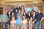 0869-0873.---------.Bon Voyage.----------.Greg and Sinead Herve(seated centre)from Castlecountess,Tralee had a party bash before setting up their new home in France at Stoker's lodge,Oakpark,Tralee last Saturday night with many friends and family.