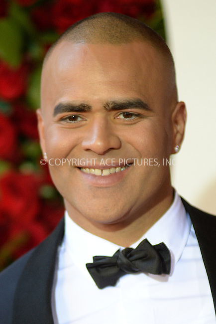 www.acepixs.com<br /> June 12, 2016  New York City<br /> <br /> Christopher Jackson attending the 70th Annual Tony Awards at The Beacon Theatre on June 12, 2016 in New York City.<br /> <br /> Credit: Kristin Callahan/ACE Pictures<br /> <br /> <br /> Tel: 646 769 0430<br /> Email: info@acepixs.com
