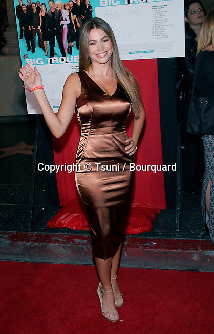 Sofia Vergara  posing at the premiere of Big Trouble at El Captain Theatre in Los Angeles. April 2, 2002.