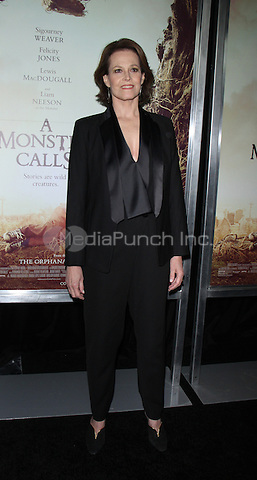 NEW YORK, NY December 067: Sigourney Weaver  at  Focus Features present New York  Premiere of A Monster Calls  at the AMC Loews Lincoln Square in New York .December 07, 2016. Credit:RW/MediaPunch