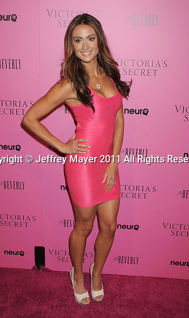 "LOS ANGELES, CA - MAY 12: Katie Cleary arrives to the Victoria's Secret 6th Annual ""What Is Sexy? List: Bombshell Summer Edition"" Pink Carpet Event at The Beverly on May 12, 2011 in Los Angeles, California."