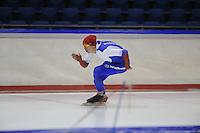 SCHAATSEN: HEERENVEEN: IJsstadion Thialf, 04-02-15, Training World Cup, Pavel Kulizhnikov (RUS), ©foto Martin de Jong