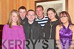 Enjoying the Knocknagoshel GAA Social in The Devon Inn Hotel  Templeglantine on Saturday night were Mu?iri?ose Brosnan, Seamus Mangan, Katie Mangan, Sinead Roche, Micheal Kelly and Larry Roche...   Copyright Kerry's Eye 2008