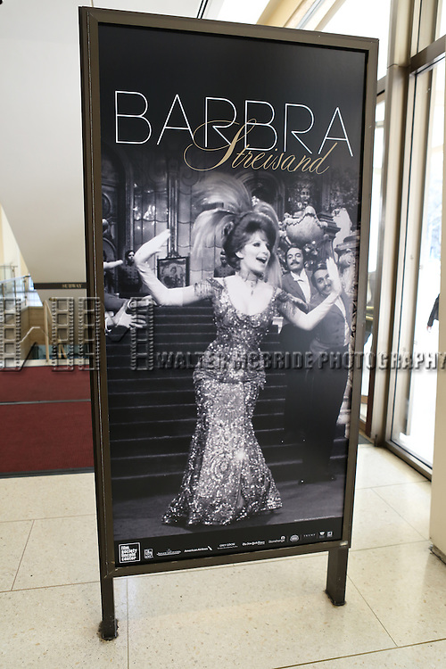 Preparing the Atmosphere for the 40th Annual Chaplin Award Gala Honoring Barbra Streisand at Avery Fisher Hall in New York City on 4/22/2013...