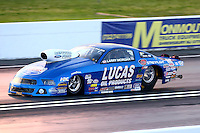 May 30, 2014; Englishtown, NJ, USA; NHRA pro stock driver Larry Morgan during qualifying for the Summernationals at Raceway Park. Mandatory Credit: Mark J. Rebilas-