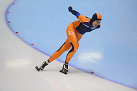SCHAATSEN: HEERENVEEN: Thialf, 4th Masters International Speed Skating Sprint Games, 25-02-2012, Anja Bollaart (F45) 1st, ©foto: Martin de Jong
