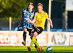 Uppsala 2015-05-21 Fotboll Superettan IK Sirius - Mj&auml;llby AIF :  <br /> Sirius Kim Skoglund i kamp om bollen med Mj&auml;llbys Marcus Ekenberg under matchen mellan IK Sirius och Mj&auml;llby AIF <br /> (Foto: Kenta J&ouml;nsson) Nyckelord:  Superettan Sirius IKS Mj&auml;llby AIF