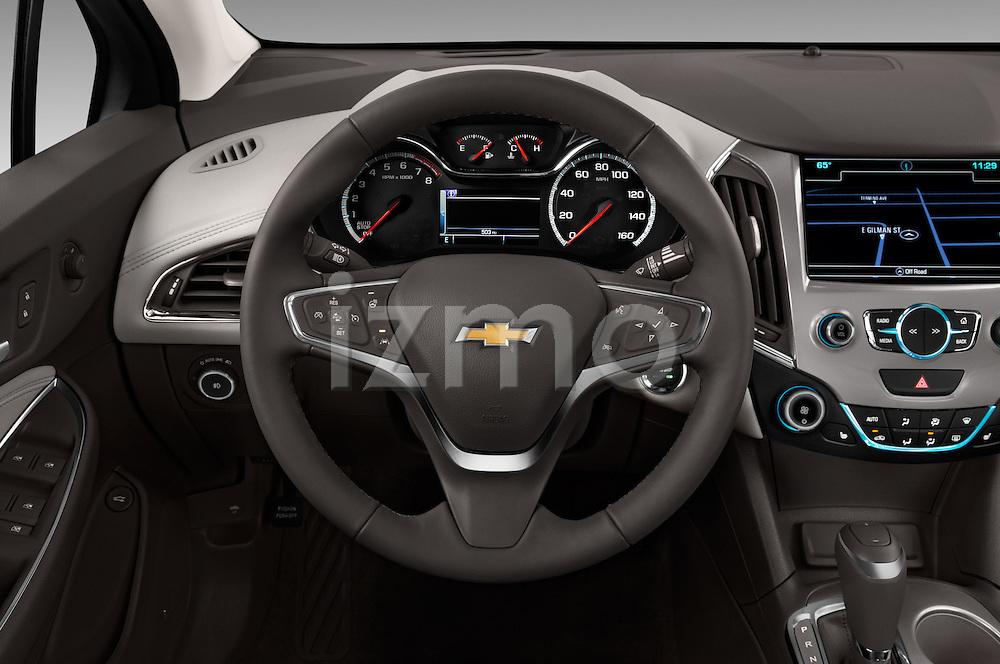 Car pictures of steering wheel view of a 2018 Chevrolet Cruze Premier 4 Door Sedan Steering Wheel