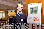 Kevin Keane, St Joseph's Secondary school Ballybunion won the Most enterprising Student at the County Final of the Kerry County Enterprise Boards Annual Student Enterprise Awards held on Tuesday in the Carlton Hotel, Tralee.