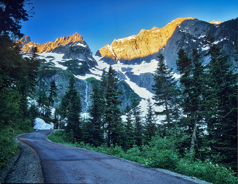 View of North Cascades National Park from Cascade River Road, Washington.