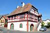 Fachwerk-Rathaus an der Hauptstraße von Hohen-Suelzen