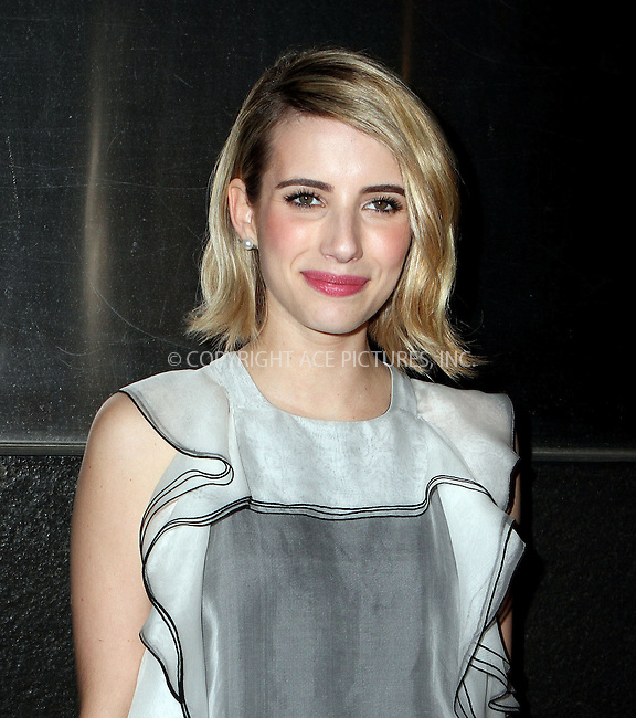 WWW.ACEPIXS.COM<br /> <br /> April 21 2014, New York City<br /> <br /> Emma Roberts arrives at the New Yorkers For Children's 11th Anniversary A Fool's Fete Spring Dance at the Mandarin Oriental Hotel on April 21, 2014 in New York City. <br /> <br /> <br /> By Line: Nancy Rivera/ACE Pictures<br /> <br /> <br /> ACE Pictures, Inc.<br /> tel: 646 769 0430<br /> Email: info@acepixs.com<br /> www.acepixs.com