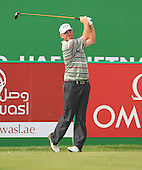 Thmoas Bjorn (DEN) in action during the first round of the 2013 Omega Dubai Desert Classic being played over the Majlis Golf Course, Emirates Golf Course from 31st January to 3rd February 2013: Picture Stuart Adams www.golftourimages.com/www.golffile.ie:  31st January 2013