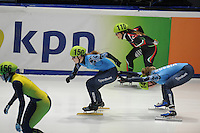 SHORTTRACK: DORDRECHT: Sportboulevard Dordrecht, 24-01-2015, ISU EK Shorttrack, Evgeniya ZAKHAROVA (RUS | #150), Ekaterina KONSTANTINOVA (RUS | #146), ©foto Martin de Jong