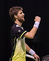 Rotterdam, Netherlands, 11 februari, 2018, Ahoy, Tennis, ABNAMROWTT, Qualifying final,  Martin Klizan (SVK) wins<br /> Photo: Henk Koster/tennisimages.com
