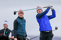 Alex Gleeson (Castle) Robert Brazill (Naas) background during the final of the 2018 West of Ireland, in Co Sligo Golf Club, Rosses Point, Sligo, Co Sligo, Ireland. 03/04/2018.<br /> Picture: Golffile | Fran Caffrey<br /> <br /> <br /> All photo usage must carry mandatory copyright credit (&copy; Golffile | Fran Caffrey)