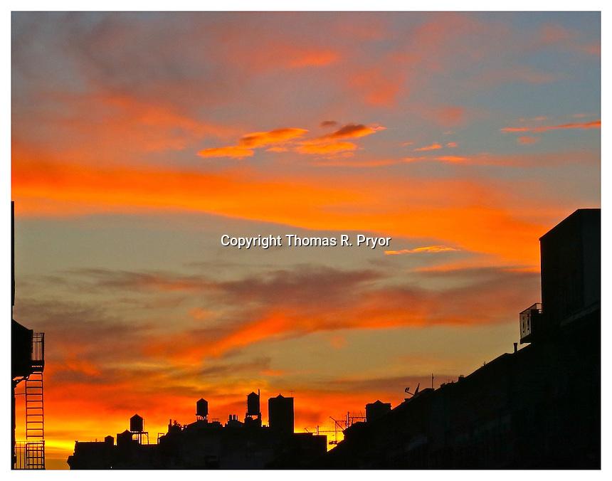 YORKVILLE, NY - JULY 5: Photograph of firey sunset in Yorkville, New York on July 5, 2013. Photo Credit: Thomas R. Pryor