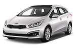 2016 KIA Ceed_SW 5 Door Wagon Angular Front stock photos of front three quarter view