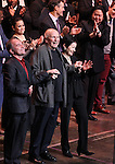 Stephen Flaherty, Terrence McNally, Lynn Ahrens & Stafford Arima with Company during the Curtain Call for the Manhattan Concert Production of 'Ragtime - In Concert' at Avery Fisher Hall in New York City on 2/18/2013