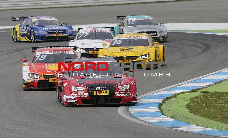 DTM 2015, 01.Lauf Hockenheimring, 01.05. - 03.05.15 <br /> Miguel Molina (ESP#17) Audi Sport Team Abt Sportsline Audi RS 5 DTM , Augusto Farfus (BRA#18) BMW Team RBM BMW M4 DTM , Timo Glock (DEU#16) BMW Team MTEK BMW M4 DTM <br /> <br /> <br /> <br /> Foto &copy; nordphoto /  Bratic