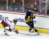 Steven Whitney (BC - 21), Adam Ross (Merrimack - 26) - The Boston College Eagles defeated the Merrimack College Warriors 4-3 on Friday, October 30, 2009, at Conte Forum in Chestnut Hill, Massachusetts.