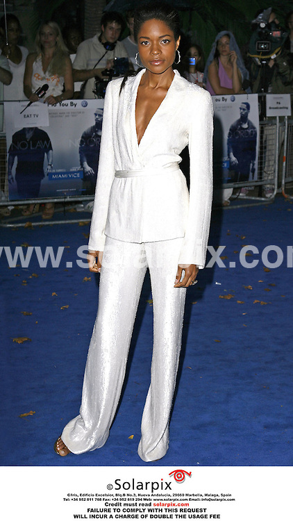 "ALL ROUND PICTURES BY SOLARPIX.COM.*MUST CREDIT SOLARPIX.COM OR DOUBLE WILL BE CHARGED*.The premiere of the film ""Miami Vice"" at the Odeon Leicester Square in the west end of London yesterday..This pic:.NAOMI HARRIS.DATE:28_07_06-JOB REF:2642-PRS"