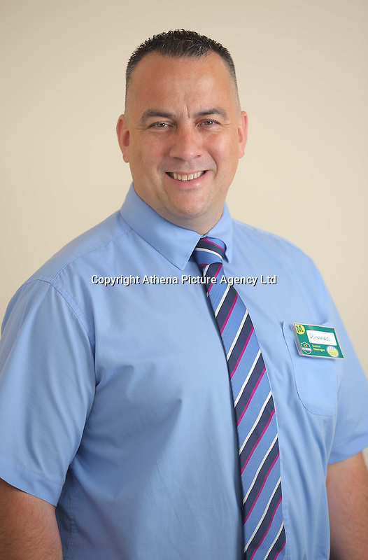 Richard Gully, store manager for Morrisons in Barry, south Wales, UK