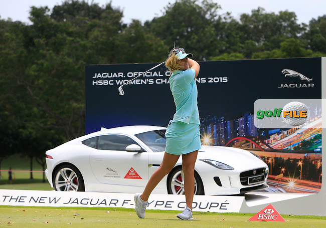 Anna Nordqvist (SWE) on the 17th tee during Round 3 of the HSBC Women's Champions at the Sentosa Golf Club, The Serapong Course in Singapore on Saturday 7th March 2015.<br /> Picture:  Thos Caffrey / www.golffile.ie