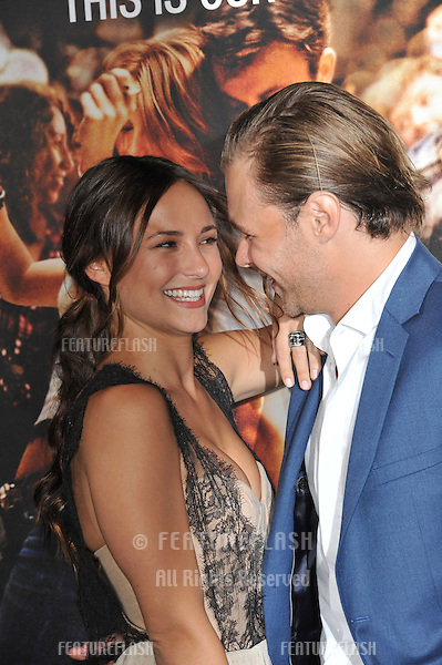 "Patrick John Flueger & Briana Evigan at the Los Angeles premiere of his new movie ""Footloose"" at the Regency Village Theatre, Westwood, CA..October 3, 2011  Los Angeles, CA.Picture: Paul Smith / Featureflash"