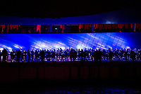 Participants gather for the 'Speed of Light' arts event. Salford, United Kingdom, 22/03/13.