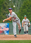 9 July 2015: Mahoning Valley Scrappers pitcher Billy Strode on the mound against the Vermont Lake Monsters at Centennial Field in Burlington, Vermont. The Scrappers defeated the Lake Monsters 8-4 in 12 innings of NY Penn League play. Mandatory Credit: Ed Wolfstein Photo *** RAW Image File Available ****
