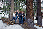 Family portrait in the Sierra Nevada, California