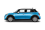 Car Driver side profile view of a 2017 MINI Cooper S 5 Door Hatchback Side View