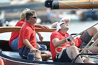 SKÛTSJESILEN: FRYSLÂN: SKS kampioenschap 2015, Skûtsje Grou schipper Douwe Azn. Visser, ©foto Martin de Jong
