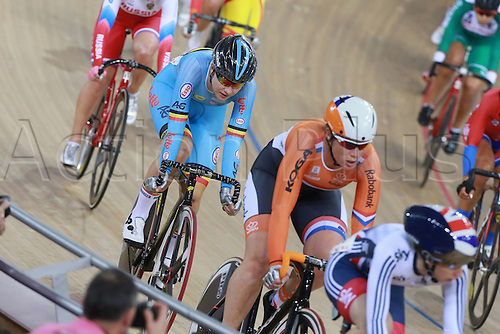 04.03.2016. Lee Valley Velo Centre, London England. UCI Track Cycling World Championships. Woomens scratch final.  D HOORE DHOORE Jolien (BEL)