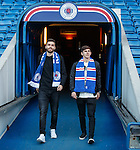 Jon Toral and Emerson Hyndman walk out to admire Ibrox Stadium