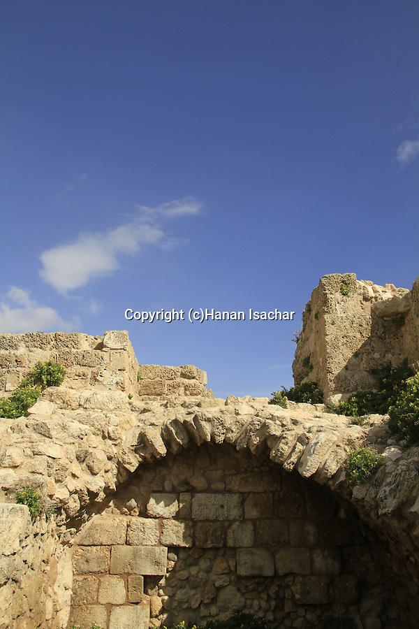 Israel, Sharon region, Kakun National Park, site of the Crusader Caco fortress