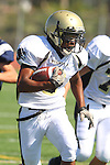 Torrance, CA 09/08/11 - Jordan Gates (Peninsula #9) in action during the North-Peninsula Junior Varsity Football game at North High School in Torrance.