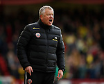 Chris Wilder manager of Sheffield Utd issues instructions during the Premier League match at Bramall Lane, Sheffield. Picture date: 7th March 2020. Picture credit should read: Simon Bellis/Sportimage