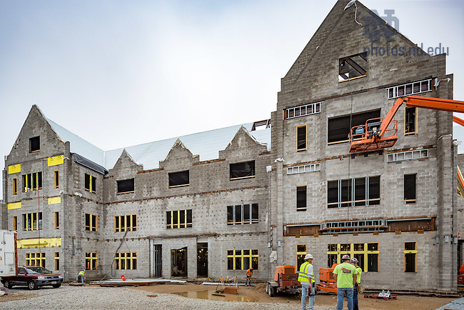 June 23, 2016; Jenkins Hall construction (Photo by Matt Cashore/University of Notre Dame)