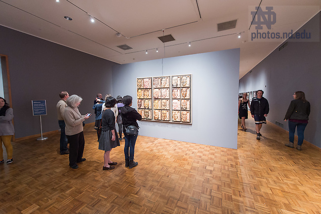 Apr. 10, 2015; Opening of the annual BFA and MFA exhibit in the Snite Museum of Art. (Photo by Matt Cashore/University of Notre Dame)