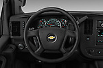 Car pictures of steering wheel view of a 2017 Chevrolet Express 3500 3500 Extended Work Van 4 Door Cargo Van