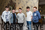 Enjoying the Lixnaw GAA Presentation Dance at the Rose Hotel on Saturday were Michael Kelliher, Billy Stack, Evan McCarthy, Aodhán Shanahan, Kieran Walsh