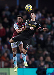 Joao Cancelo of Manchester City challenges Neil Taylor of Aston Villa  during the Premier League match at Villa Park, Birmingham. Picture date: 12th January 2020. Picture credit should read: Darren Staples/Sportimage