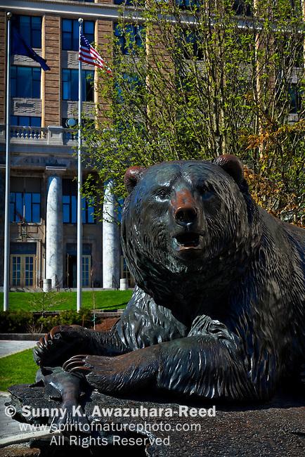 Grizzry Statue, Windfall Fisherman, Alaska State Capitol, Juneau, Alaska