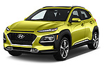 2019 Hyundai Kona Limited DCT 5 Door SUV angular front stock photos of front three quarter view