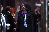 Omarosa Manigault is seen in the lobby elevators of the Trump Tower in New York, NY, on January 16, 2017 <br /> Credit: Anthony Behar / Pool via CNP
