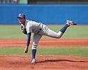 Tokyo University's Kohei Miyadai pitches against Rikkyo University